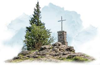 Gipfelkreuz des grossen Falkenstein im Bayerischen Wald